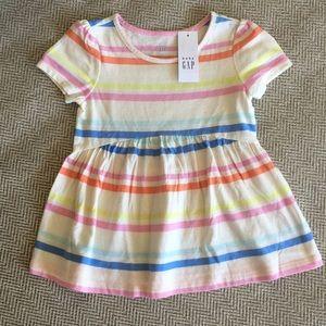 Striped babydoll tee